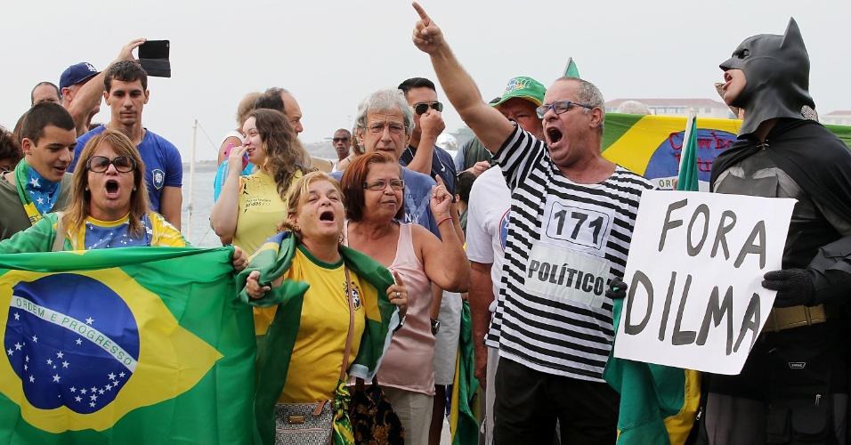 Manifestantes contra Dilma - 15/03/2015