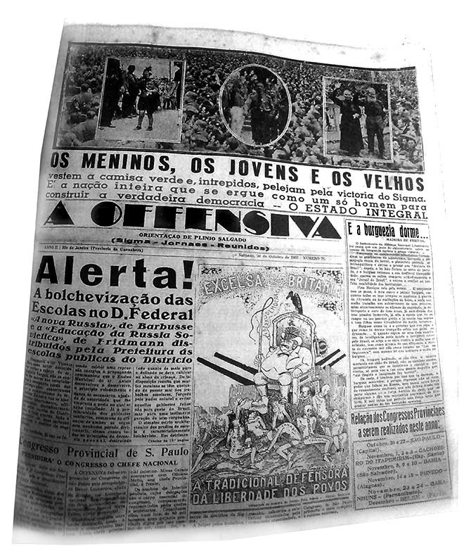 "Capa do jornal ""A Ofensiva"", 1936"