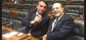 Jair Bolsonaro e Paulo Maluf no plenário da Câmara dos Deputados